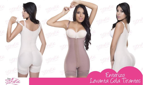 faja colombiana post-quirúrgica  sthtetic- 3 broches
