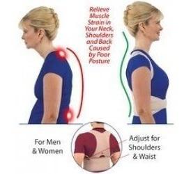 faja corrector de postura de hombros y espalda s/m y l/xl