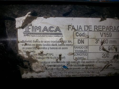 faja de reparacion tuberia 3 pulg   / 80 mm marca fimaca
