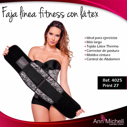 faja fitness con látex ann michell 4025 print27
