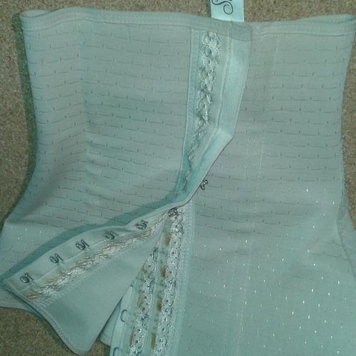 faja forrada cinturilla moldeadora tipo corset  unisex