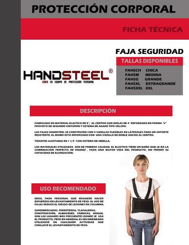 faja lumbar industrial handsteel 3x con envío