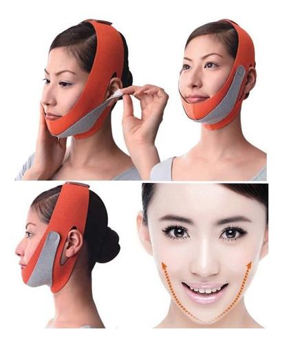 faja mascara reductor adelgazador facial papada mejillas