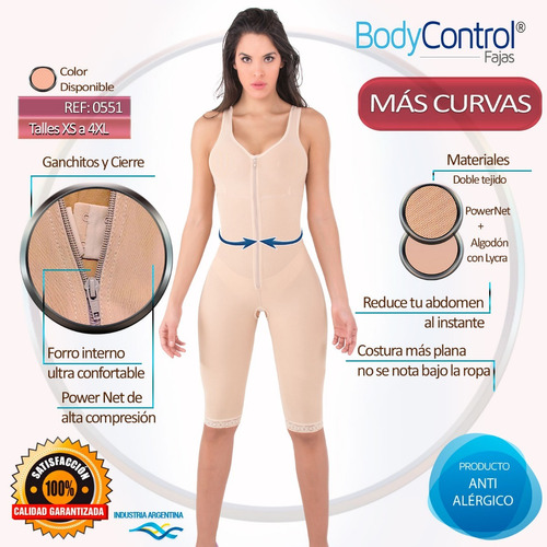 faja modeladora reductora postquirurgica body control 0551