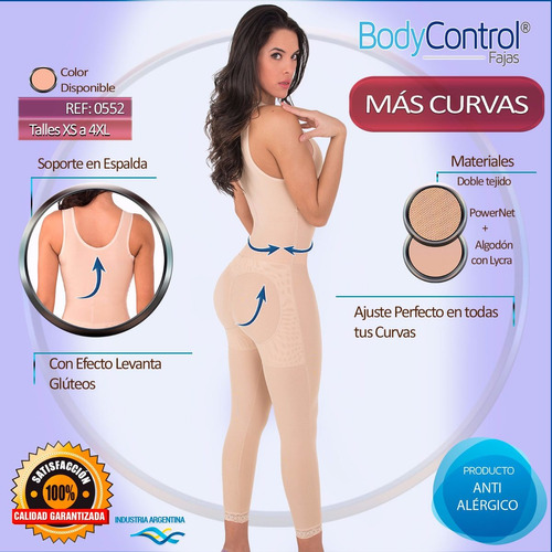 faja modeladora reductora postquirurgica body control 0552
