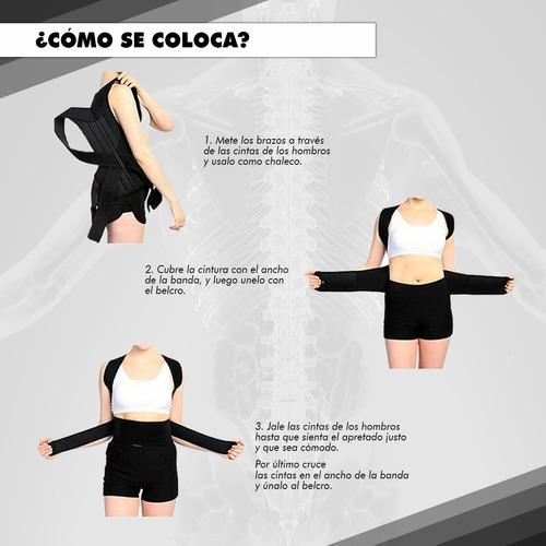 faja ortopédica correctora de columna para la espalda