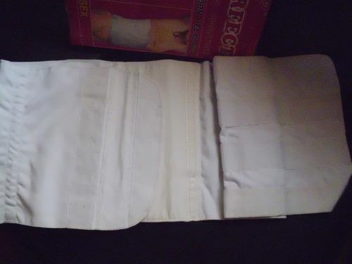 faja post operatoria  de algodon y elastica con pega pega