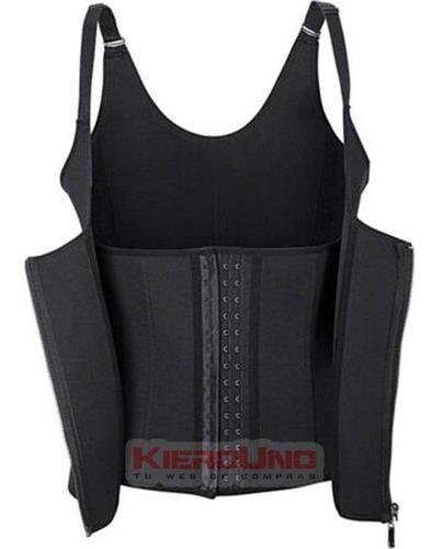 faja reductora musculosa corset y cierre deportiva