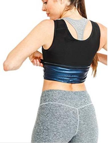 faja reductora sauna camiseta chaleco sweat shaper ligera y comoda debajo ropa moldea y dan forma playera ejercicio