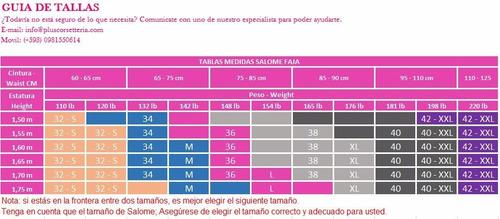faja salome  chaleco reductor tiras removibles. ref.: 0313.
