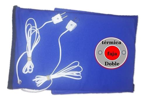 faja termica doble electrica - reduce abdomen y piernas cali