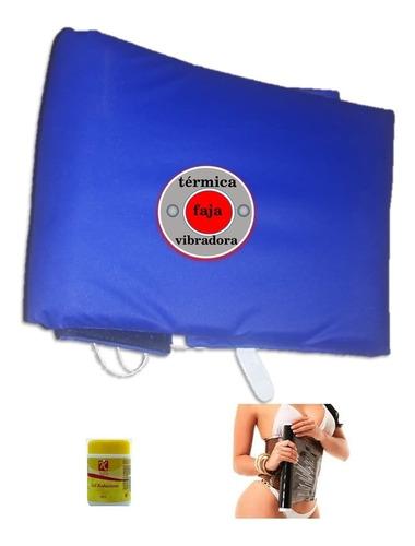 faja termovibradora electrica, kit (faja+gel+osmotico)