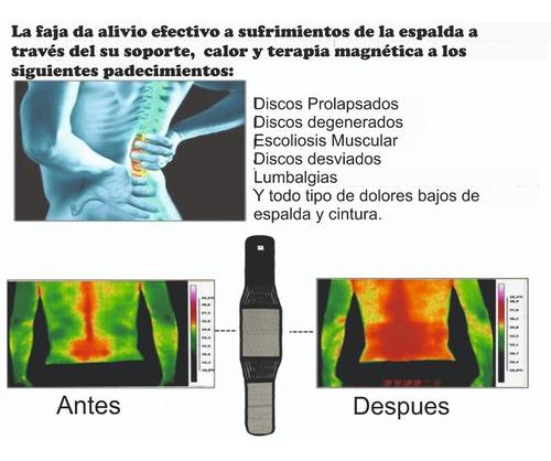faja turmalina imanes dolor lumbar cintura espalda calienta