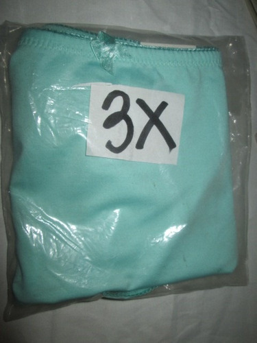 fajas calzon azul spandex  plus en talla 3 x  extragrandes