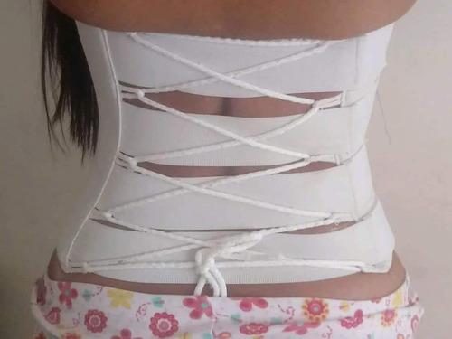 fajas de yeso tipo corset. + aceite reductor