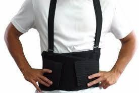 fajas para levantar carga, cinturón. tarimas, monta cargas.