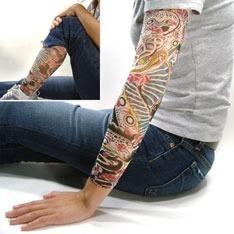 fake tattoo sleeve tatuagem falsa - segunda pele apenas 7,50