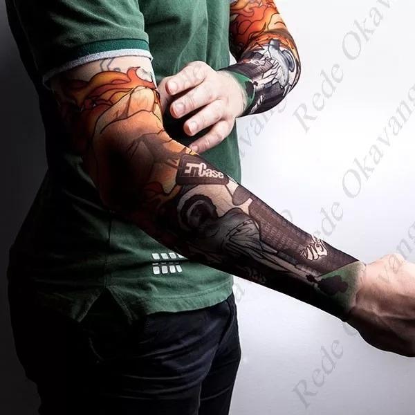 Fake Tattoo Tatuagem Falsa Segunda Pele Sleeve Manga Unidade