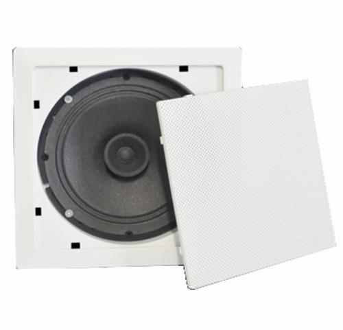 falante para teto arandela quadrada branca embutir gesso som