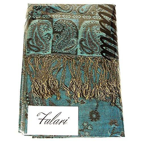 falari womens woven pashmina shawl wrap scarf 80 x 27