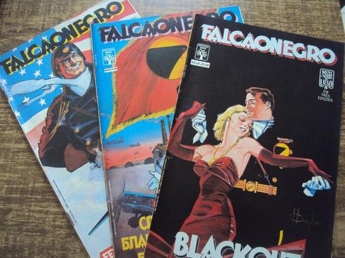 falcão negro - 3 edições - editora abril