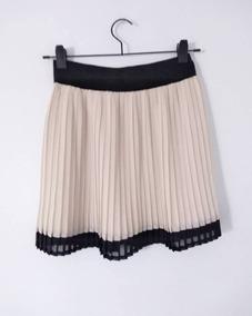 5df0b93d1 Falda Plisada Cuero - Polleras Corta de Mujer Blanco en Mercado ...
