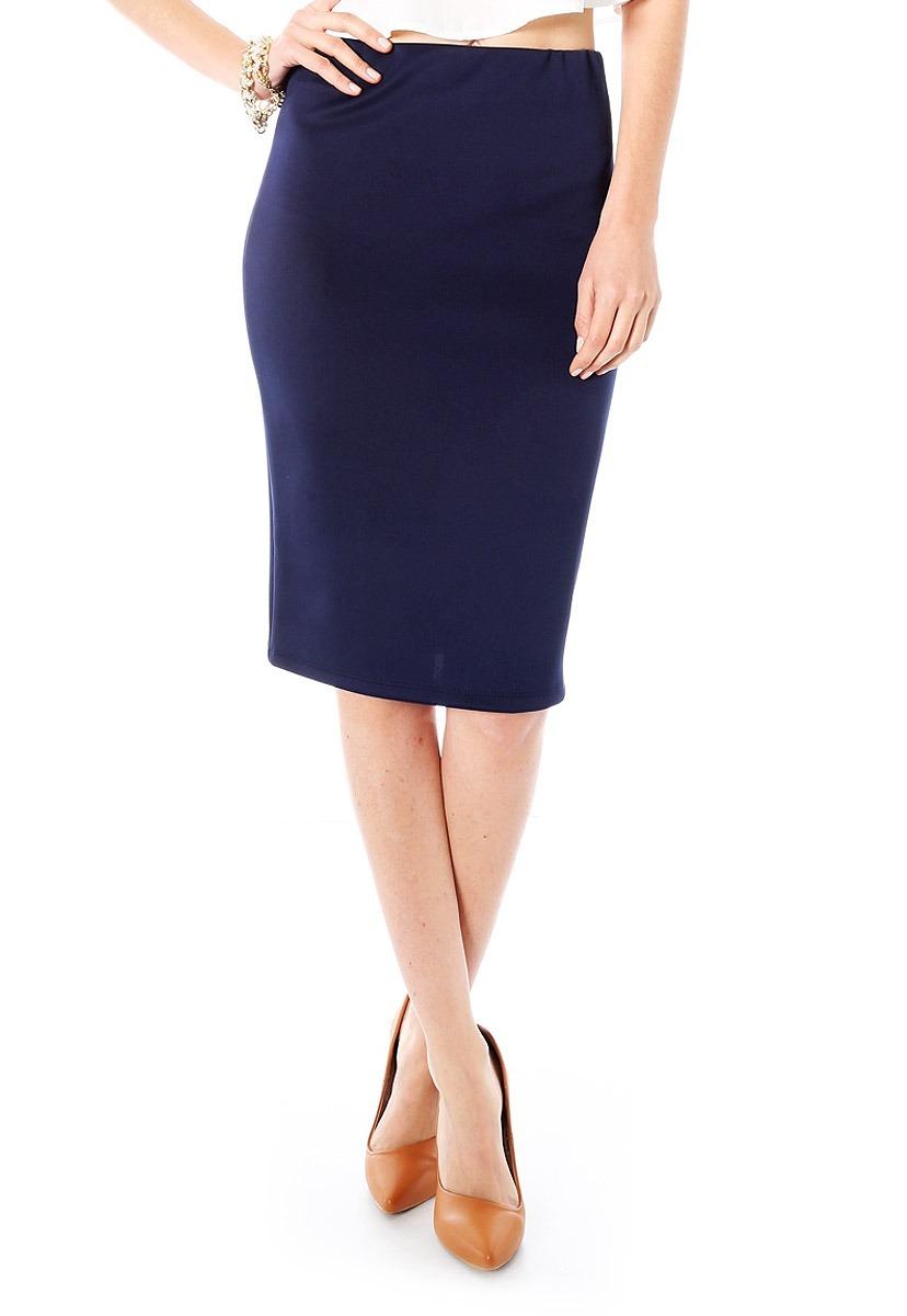 605b33187e7 Falda Azul Marino Talla 40 - $ 70.00 en Mercado Libre