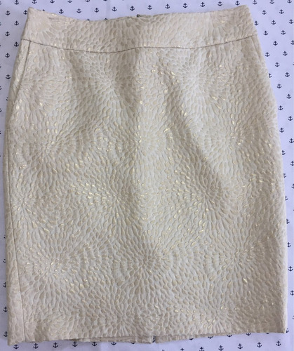 falda beige/dorado