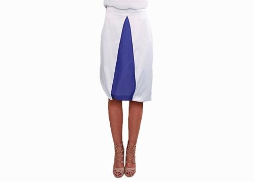 falda blanca asimétrica  careyes