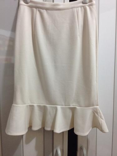 falda blanca stretch forever 21 talla s nuevo ropa mujer