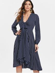 c254769aa Vestido Para Gorditas En Falda - Faldas Azul marino al mejor precio ...