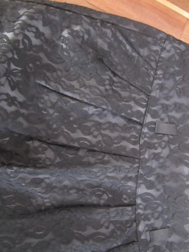falda cintura encaje negra