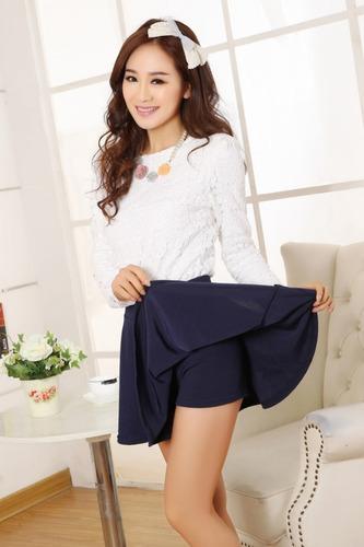falda circular con short -sexy fiestas, salidas, citas, etc