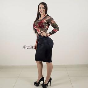 disfruta del mejor precio descuento en venta busca lo último Falda Colombiana Negra De Mujer Faldas Midi Sexy Pegada Elaborada A Medida  Envio Gratis