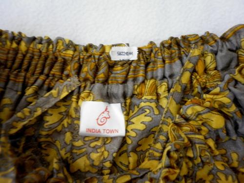 falda con bolsillos  de la india tela sari!! t rapsodia