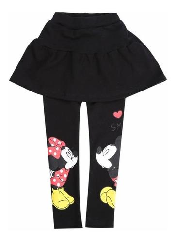 falda con calzas minnie mouse ( color negro)