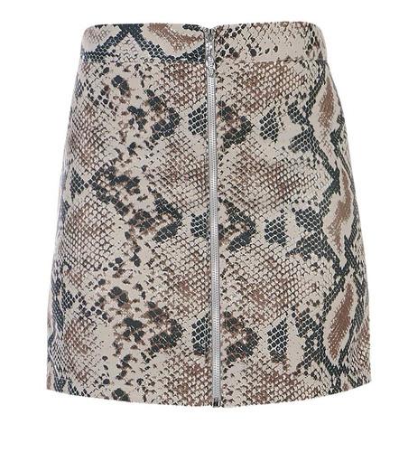 falda corta animal print snake moda 94017  tallas  ch - xl