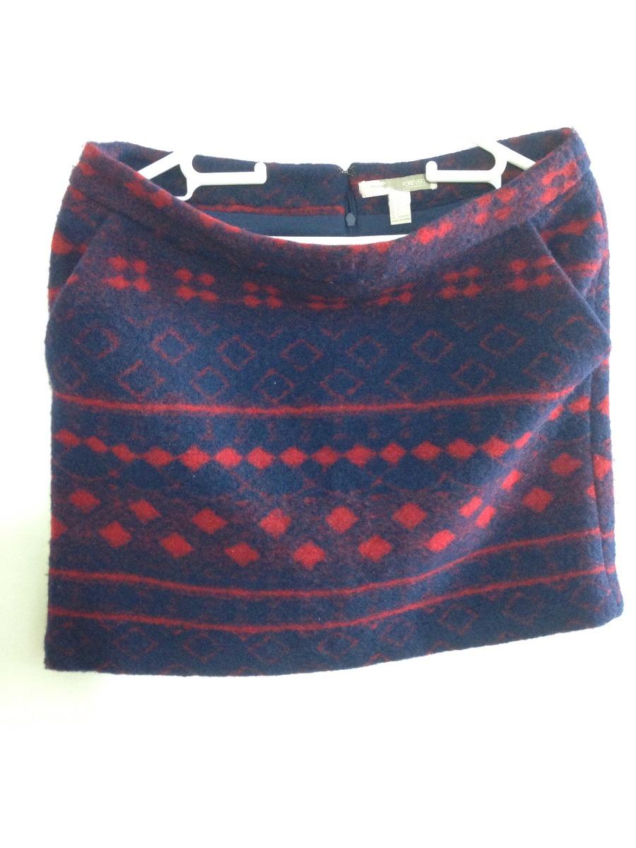 Falda Corta Azul Oscuro Con Rojo Envio Gratis -   390.00 en Mercado ... 0aea61c0ad6f