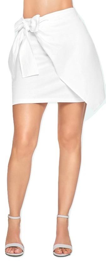 falda corta cklass dama cruzada algodón blanco 41979 dtt. Cargando zoom. d346129feec9