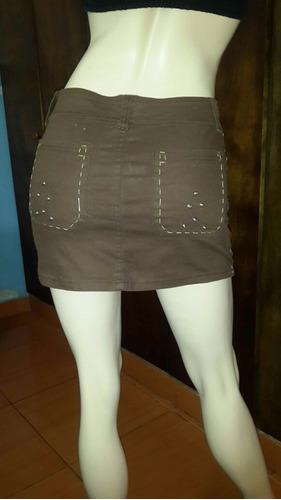 falda corta  de jeans