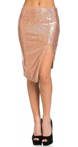 falda corta falda tubo falda sexy color dorado lentejuelas