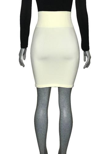 falda corta lycra con botones, unitalla
