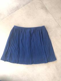 1ec795f1b Falda Plisada Cuero - Polleras Cortas de Mujer Azul en Mercado Libre ...