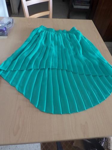 falda corte princesa, falda alargada atrás, juvenil