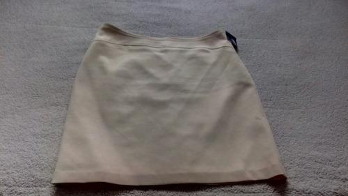falda crema de vestir preciosa talla 9 dennia