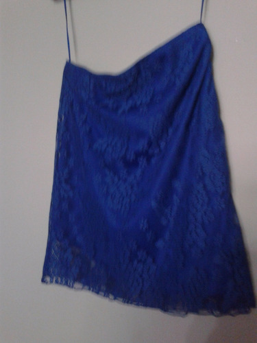 falda de blonda azul talla m
