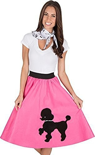 falda de caniche para adultos con estampado de notas musical