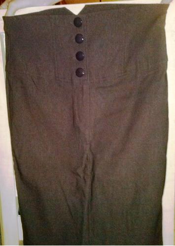falda de dama marrón chocolate