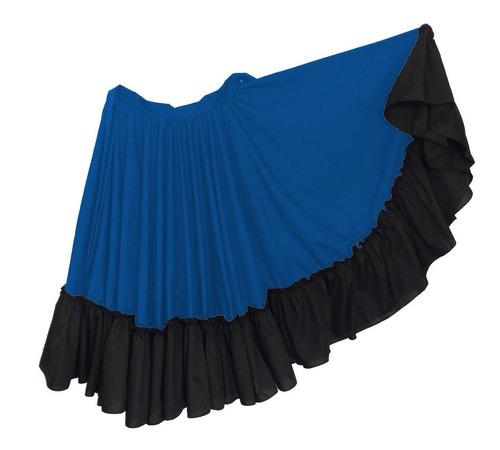 falda de danza folclórica doble circular adulto