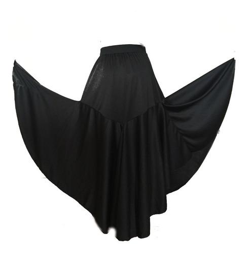 falda de flamenco talla 2  a 16. negro y rojo
